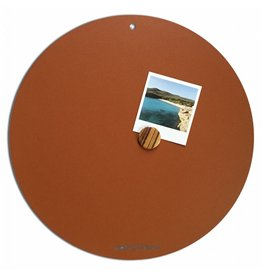 FAB5_Wonderwall NEW ROUND GOLD MAGNETIC BOARD Rusty-Brown 40 cm