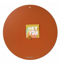 FAB5_Wonderwall NEW ROUND GOLD MAGNETIC BOARD Rusty-Brown 60 cm