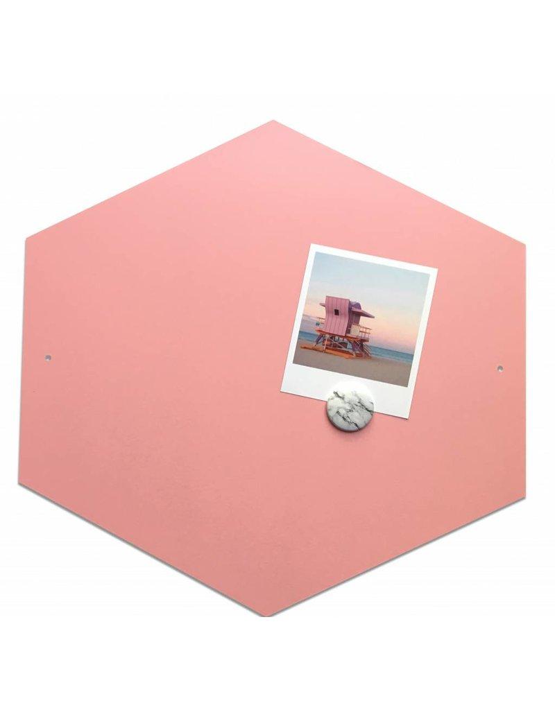 Fab5 Hexagon magneetbord 40cm- Roze