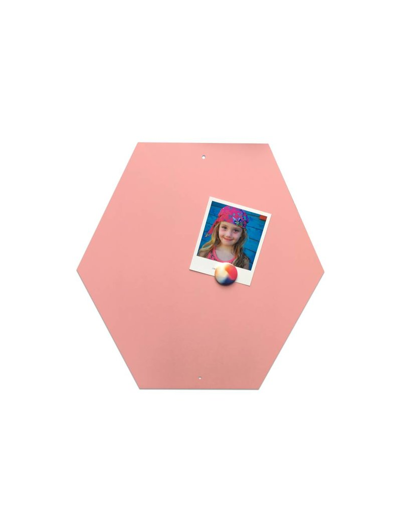 FAB5_Wonderwall Fab5 Hexagon magneetbord 40cm- Roze
