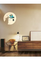 FAB5 Wonderwall  whiteboard wolf 67 X 70 CM