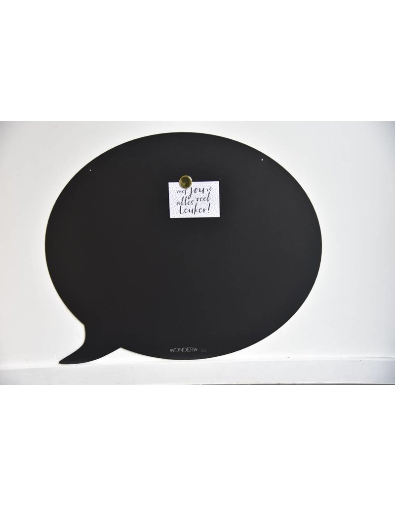 FAB5 Wonderwall Tableau magnetic Noir bulle- 95 x80 cm  - Special collection