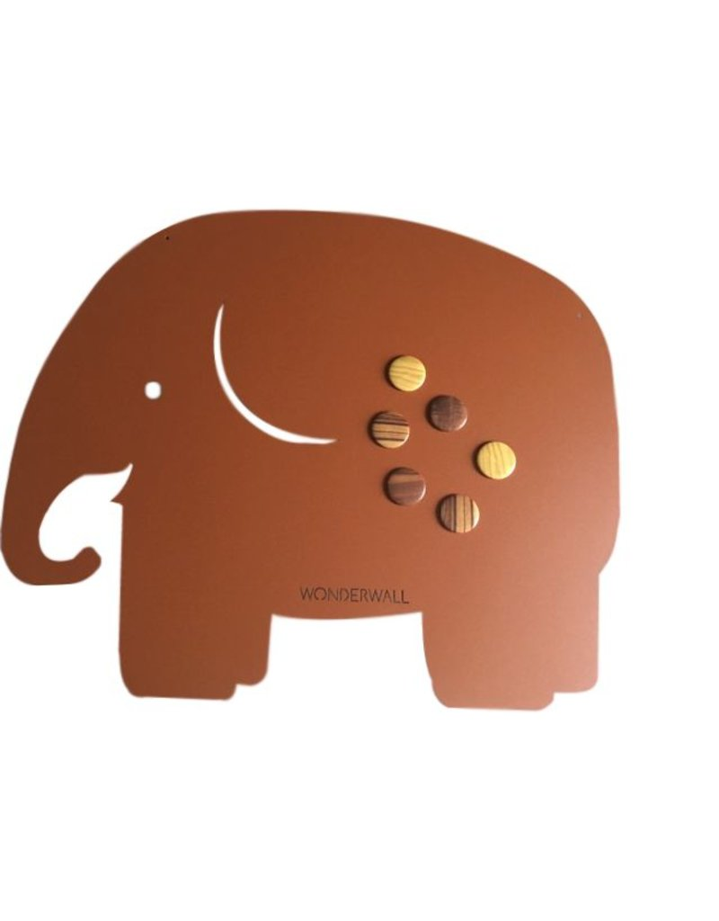 FAB5_Wonderwall EXCLUSIVE COLLECTION FAB5 magneetbord olifant medium 50 x 60 cm