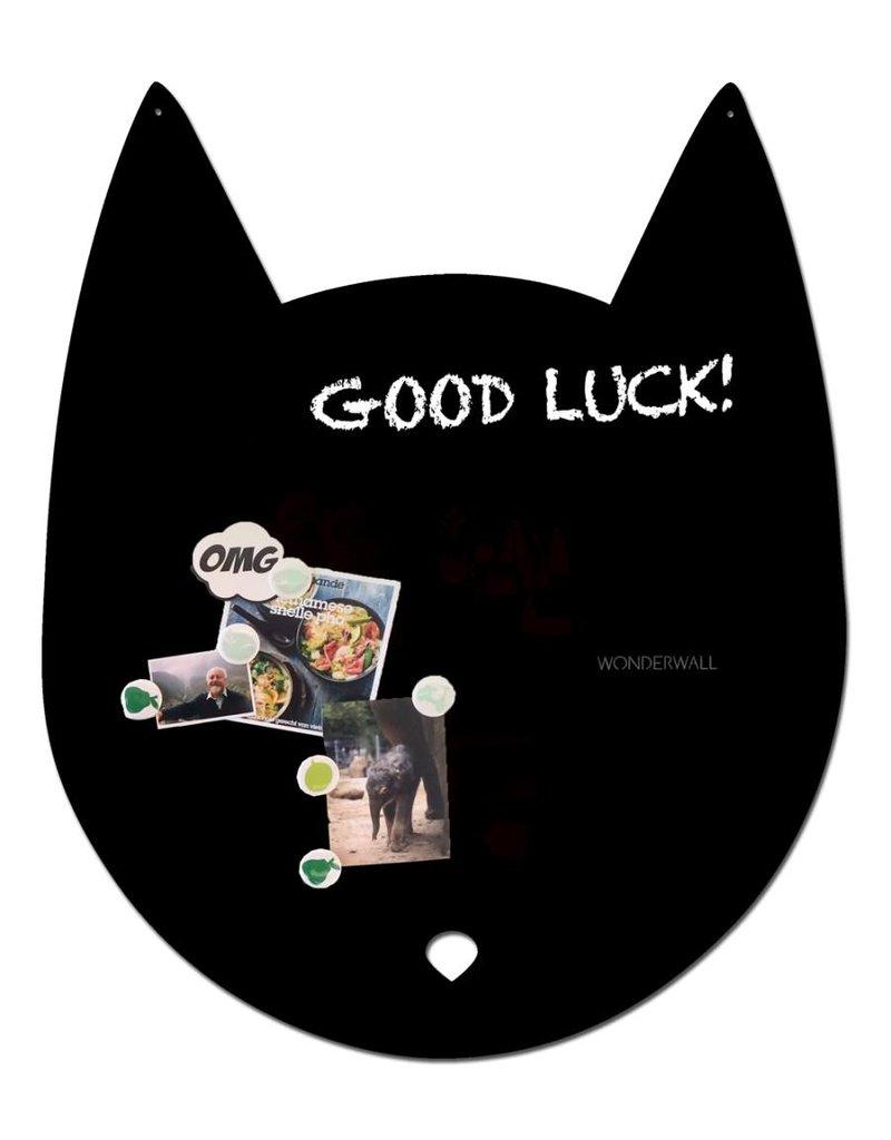 Wonderwall EXCLUSIVE COLLECTION Cat magnet board medium luxe black