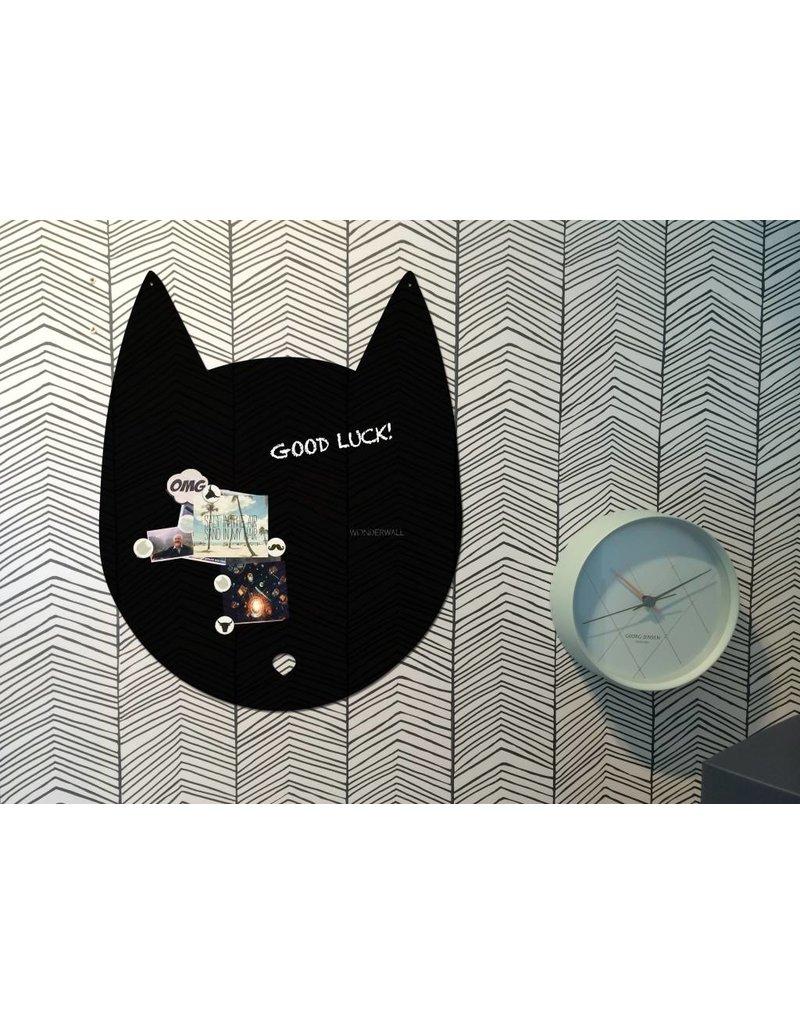 Wonderwall EXCLUSIVE COLLECTION Kat magneetbord luxe matte zwarte afwerking