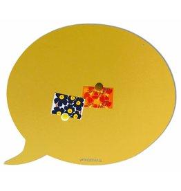 FAB5 Wonderwall Bulle magnétique  jaune sablé