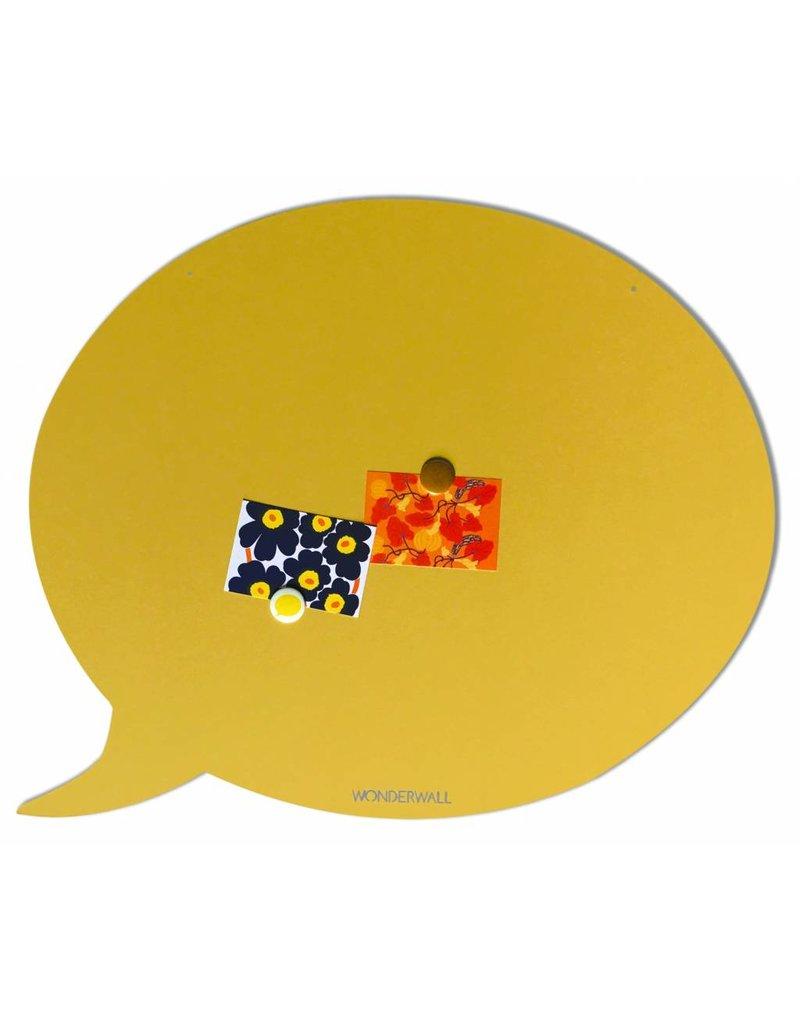 Wonderwall    Magneetbord tekstballon 50 x 60 cm  zandgeel