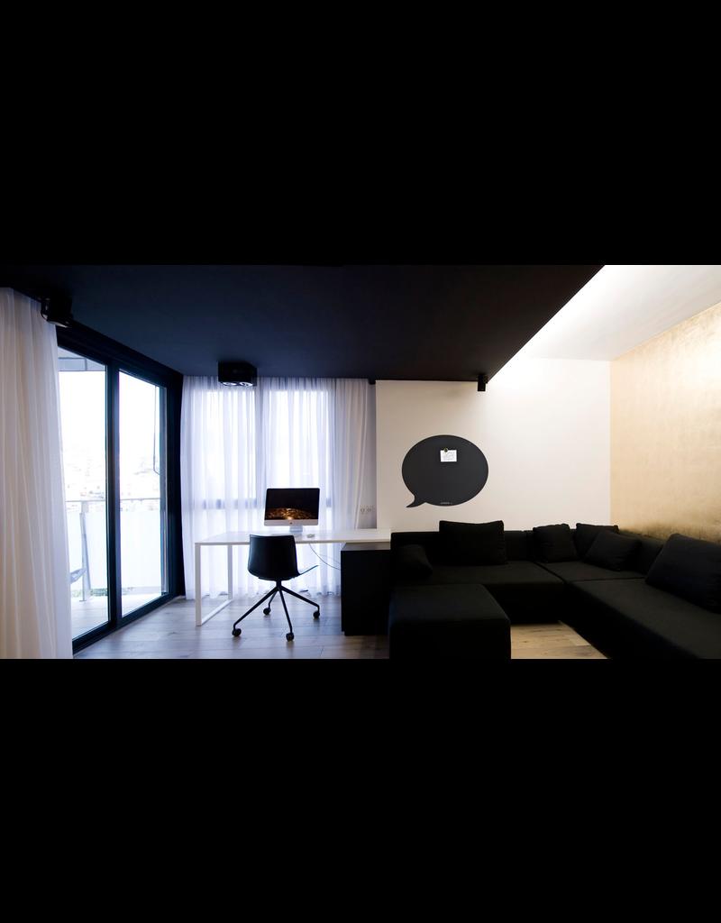 FAB5 Wonderwall Tableau magnetic Noir bulle-50 x 60 cm