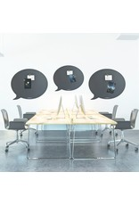 Wonderwall    Magneetbord tekstballon zwart 50 x 60 cm