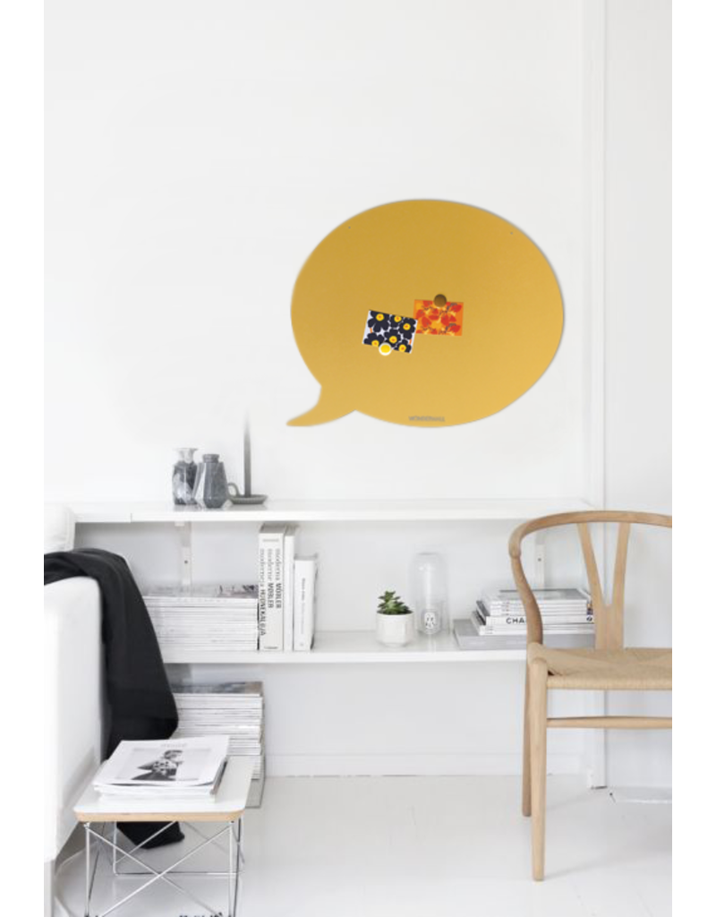 FAB5 Wonderwall    Magneetbord tekstballon 50 x 60 cm  zandgeel