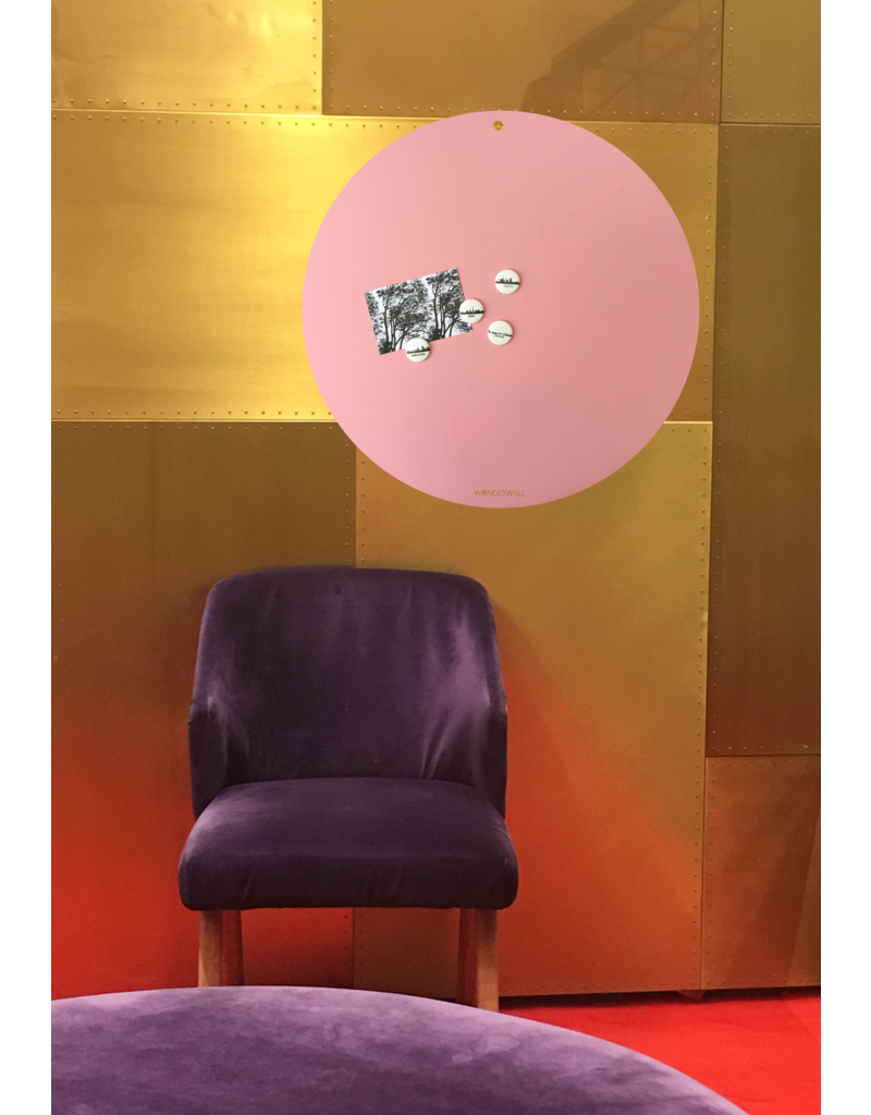 NEW ROUND GOLD MAGNETIC BOARD  PINK-