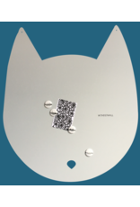 Wonderwall 67 x 80 cm House-cat magnet board light grey