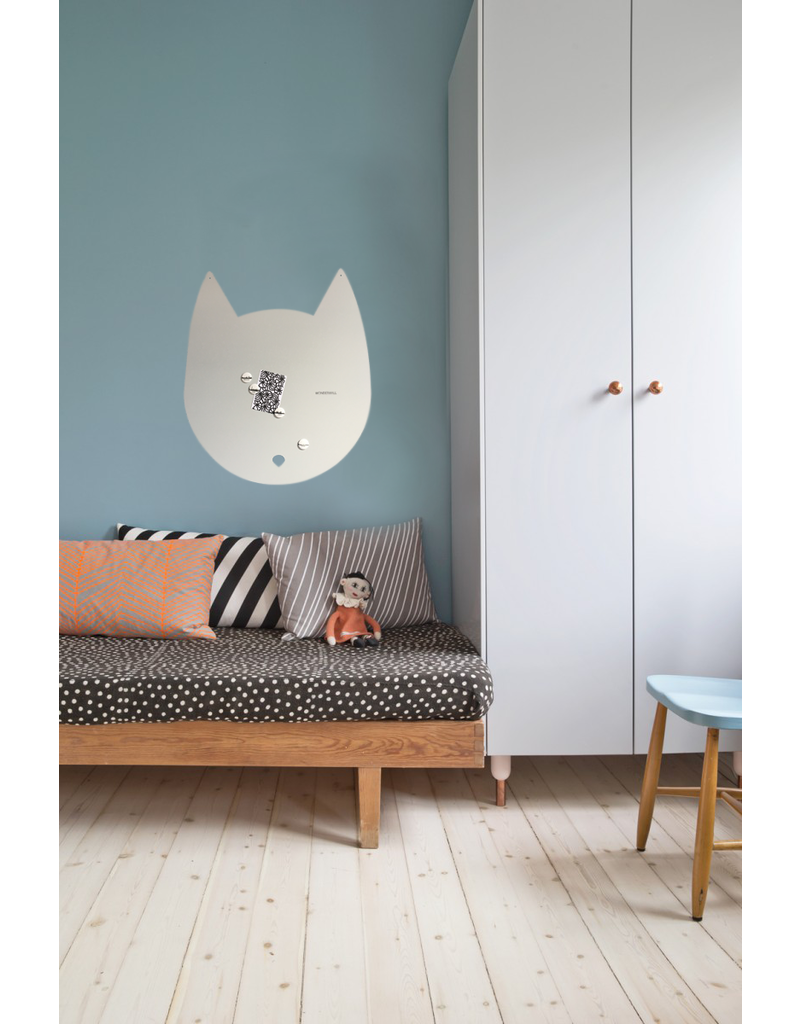 FAB5 Wonderwall 67 x 80 cm House-cat magnet board light grey