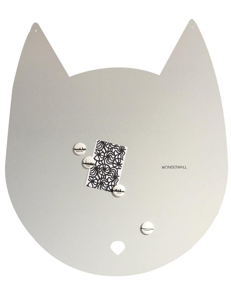 FAB5 Wonderwall Large 67 x 80 cm kat magneetbord licht grijs in matte structuur