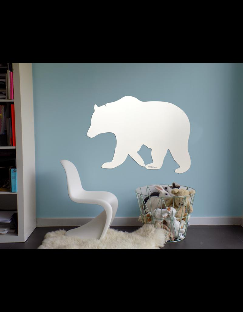 FAB5 Wonderwall +/- 95 X 80 CM WHITEBOARD en magnet board polar bear-Special collection