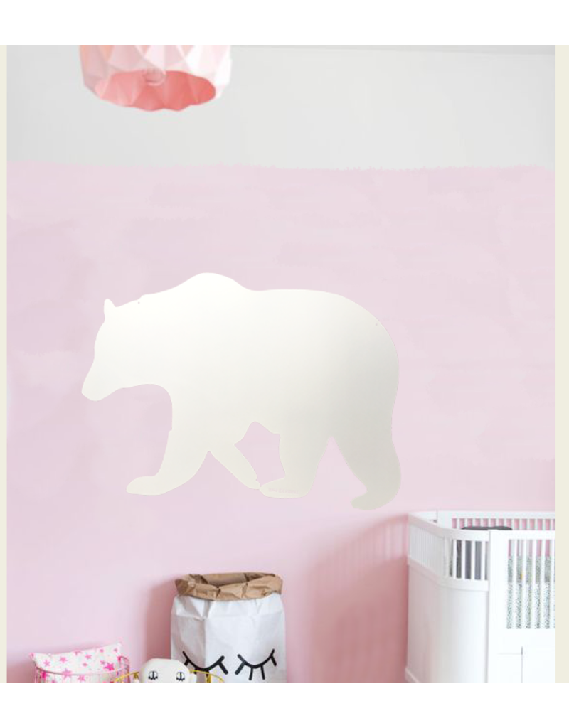 FAB5 Wonderwall +/-95 x 80 cm whiteboard et tableau magnetique Ours polaire-Special collection