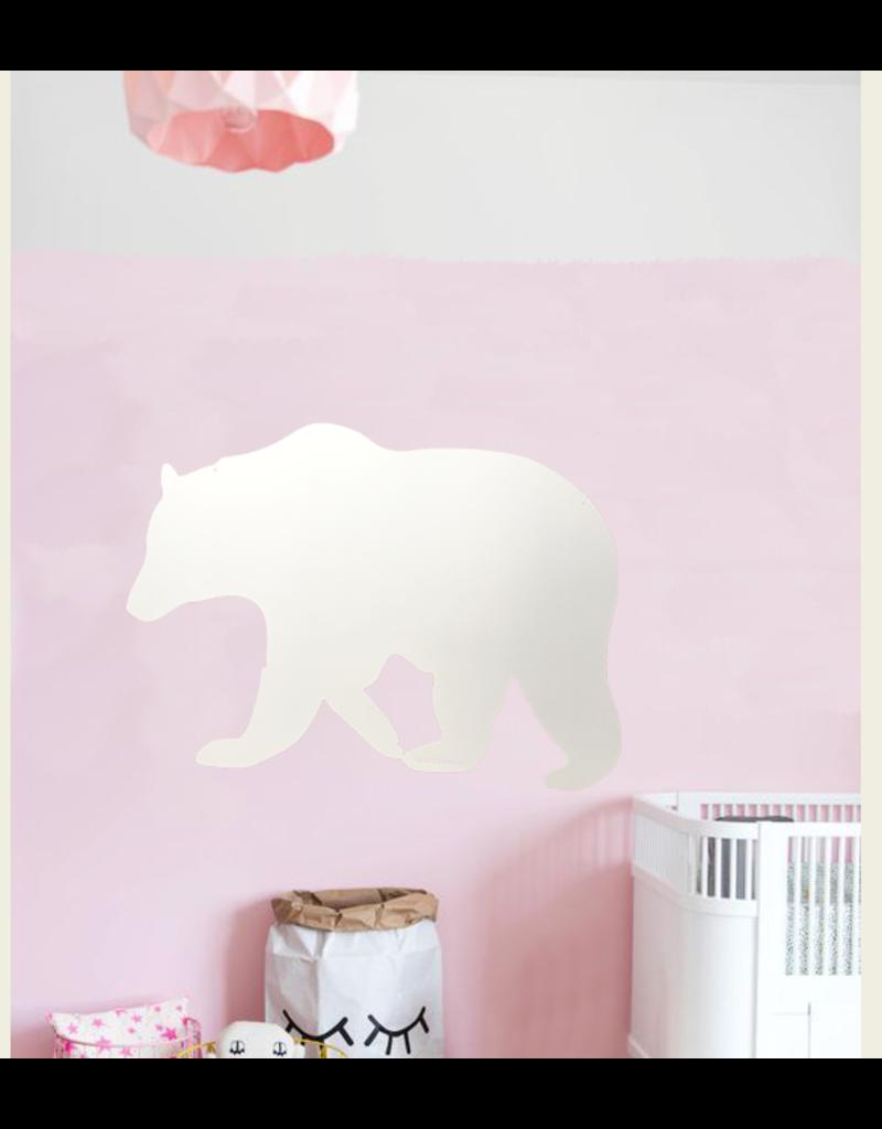 Wonderwall +/- 95 X 80 CM WHITEBOARD en magnet board polar bear-Special collection