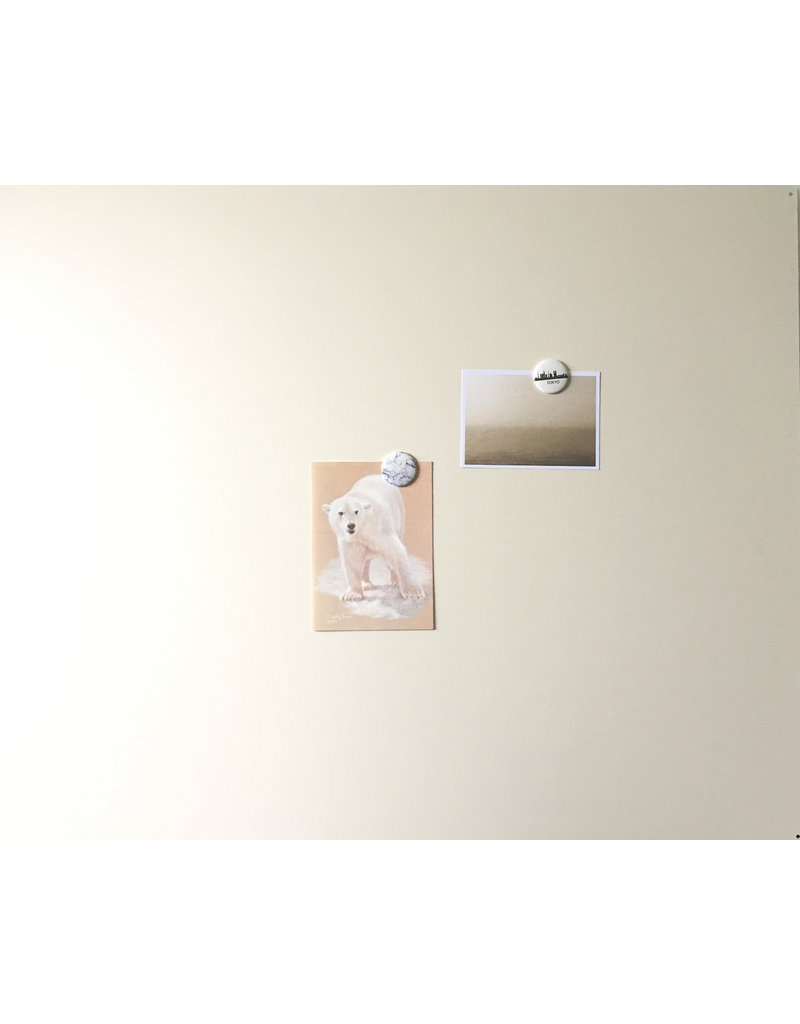 Magneetbord rechthoek off white 950x800mm