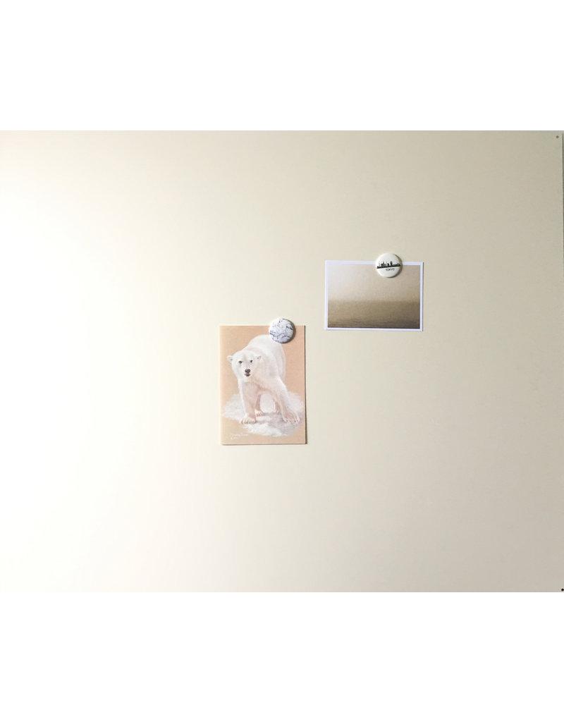 Tableau magnétique  rectangle off white 850x700mm