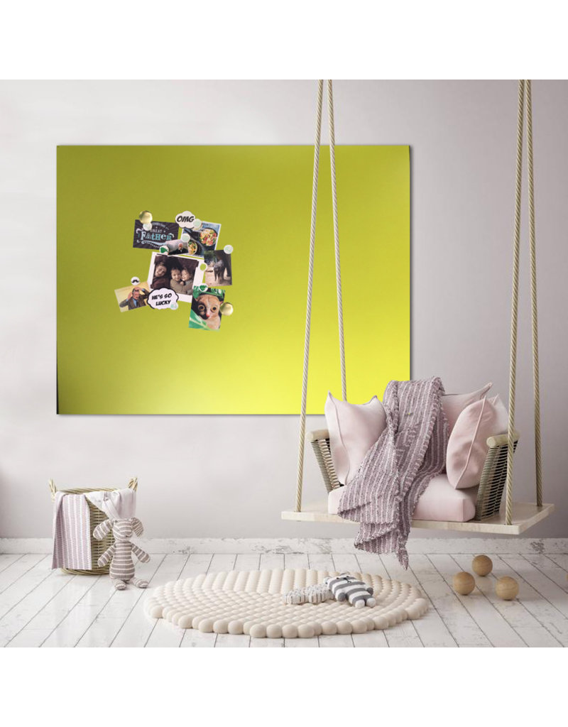 SOLD OUT __PROMO Magneetbord rechthoek limegreen 123,5 cmx 103,5 cm