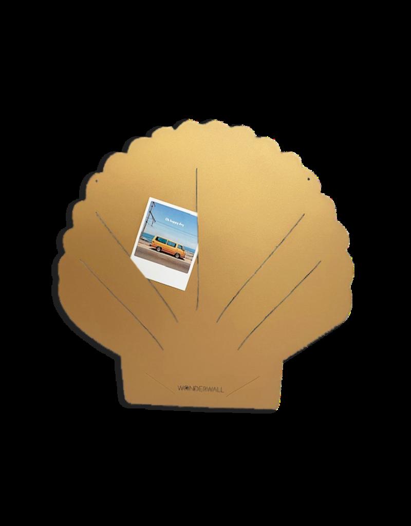 FAB5 Wonderwall Wonderwall Magneetbord  Schelp medium goud 50X60cm