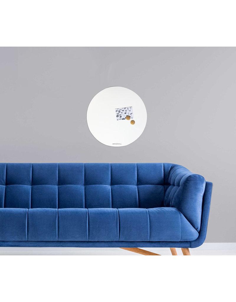 FAB5 Wonderwall Whiteboard en magneetbord Cirkel 60 cm