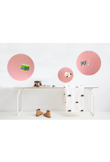 NEW ROUND GOLD MAGNETIC BOARD  PINK-   - Copy