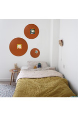 FAB5 Wonderwall NEW ROUND GOLD MAGNETIC BOARD  PINK-   - Copy - Copy