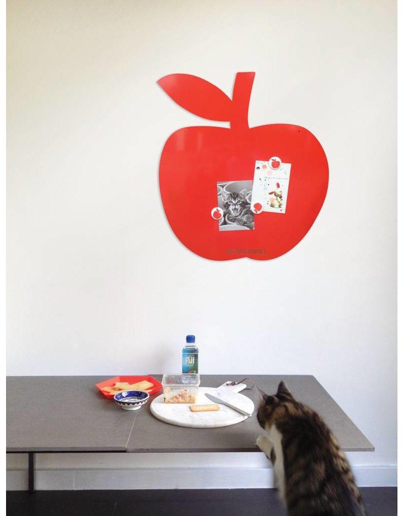 Wonderwall  Magneetbord Appel Mediumrood 50 x 60 cm