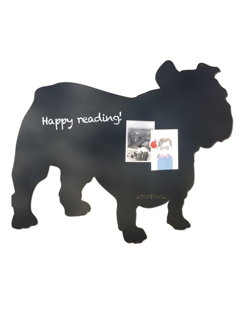 FAB5 Wonderwall Tableau magnétique Spike bulldog noir large 67 x 80 cm