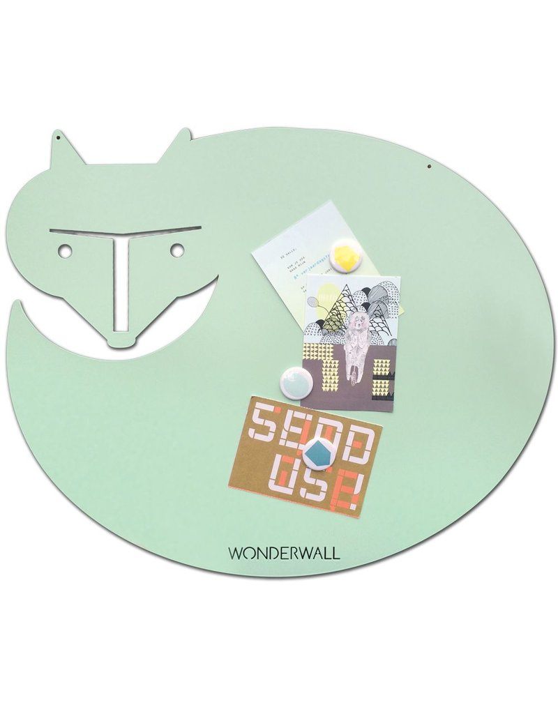 FAB5 Wonderwall Magnetic board fox mint medium 50 x60 cm