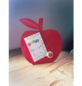 FAB5 Wonderwall Appel rood magneetbord -desktop model-