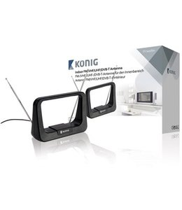 König Binnen DVB-T/T2 - DAB+ Antenne 7 dB FM / VHF / UHF