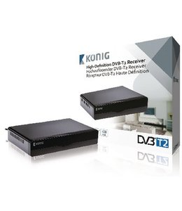 König Full HD DVB-T2 Ontvanger 1080p Free to Air (FTA)