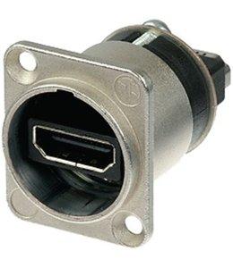 Neutrik HDMI 1.3 feedthrough adapter met D-form behuizing