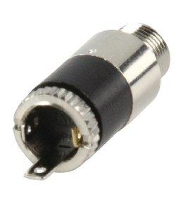 Lumberg Stereoconnector 3.5 mm Female Metaal Zilver
