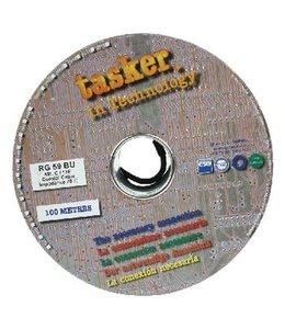 Tasker Coaxkabel op Haspel RG59 6.1 mm 100 m Zwart