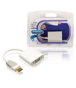 Bandridge High Speed HDMI Kabel HDMI-Connector - VGA Female 15-Pins 0.20 m Wit