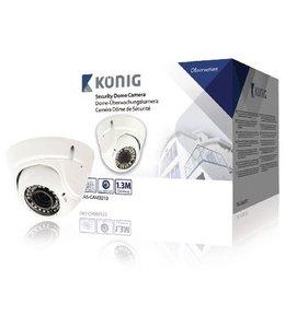 König Dome Beveiligingscamera 1000 TVL IP66 Wit