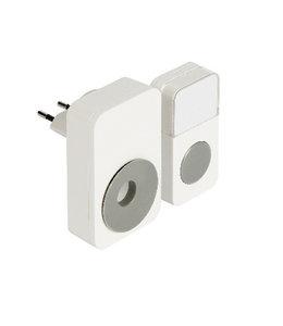 König Plug-in Draadloze Deurbel Set 220V 85 dB Wit/Grijs