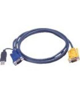 Aten KVM Kabel VGA Male / USB A Male - Aten SPHD15-Y 3.0 m