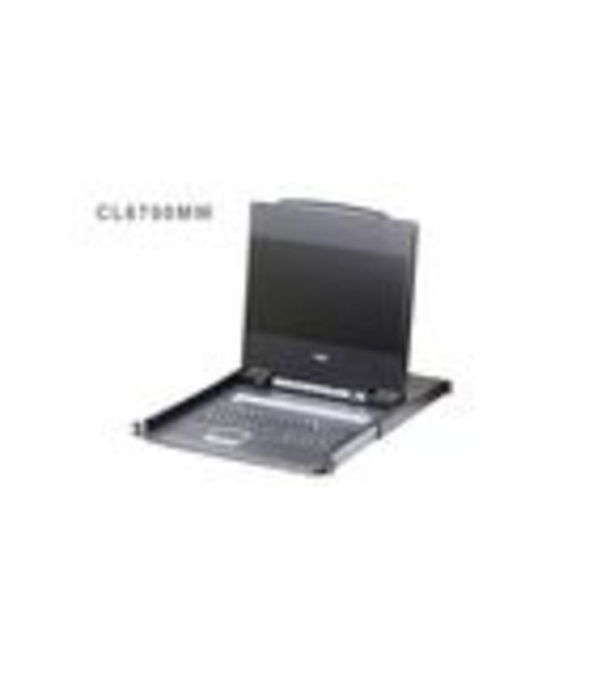 Aten The CL6700MW DVI Full HD LCD Console is a single rail KVM console featuring a 17.3'' LED-backlit high-definition widescreen with an integrated keyboard and touchpad in a 1U rack-mountable sliding housing. The CL6700MW's console provides front end access t