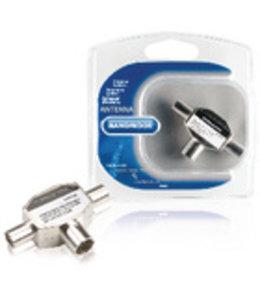 Bandridge Coax-Adapter 2x Coaxconnector Male (IEC) - Coax Female (IEC) Zilver
