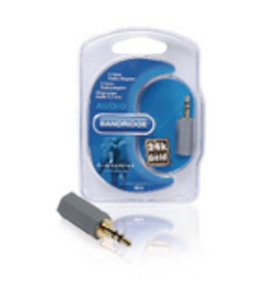 Bandridge Stereo-Audio-Adapter 3.5 mm Male - 2.5 mm Female Grijs