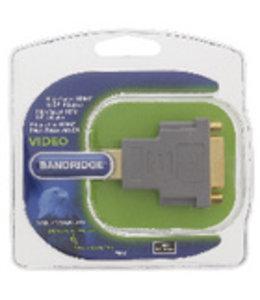 Bandridge High Speed HDMI Adapter HDMI-Connector - DVI-D 24+1-Pins Female Grijs