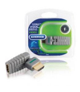 Bandridge High Speed HDMI met Ethernet Adapter Draaibaar HDMI-Connector - HDMI Female Grijs