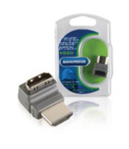Bandridge High Speed HDMI met Ethernet Adapter 270° Gehoekt HDMI-Connector - HDMI Female Grijs