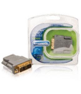 Bandridge High Speed HDMI Adapter DVI-D 18+1-Pins Male - HDMI Female Grijs