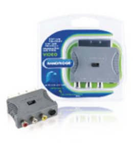 Bandridge SCART-Adapter SCART Male - S-Video Female + 3x RCA Female Grijs