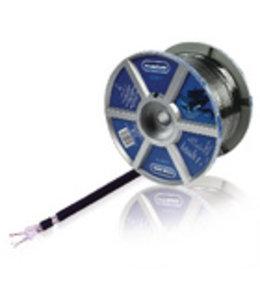 Bandridge Microfoonkabel op Haspel 2x 0.45 mm² 100 m Zwart